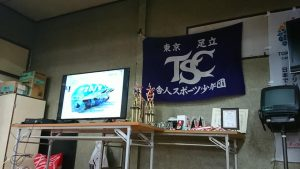 舎人スポーツ少年団野球部・中等部の卒団式