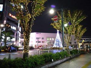 竹ノ塚駅ライトアップ
